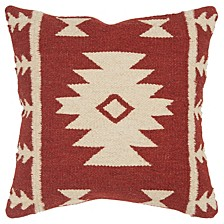 "18"" x 18"" Stripes with Motif Accents Pillow Cover"