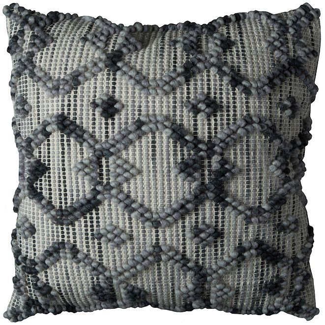 "Rizzy Home 20"" x 20"" Diamond Pattern Down Filled Pillow"
