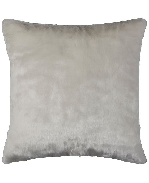 """Rizzy Home 20"""" x 20"""" Faux Fur Down Filled Pillow"""