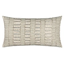 "11"" x 21"" Striped Down Filled Pillow"