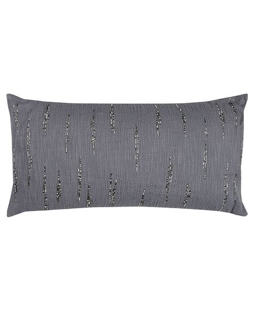 "Rizzy Home 14"" x 26"" Textured with Beaded Accents Down Filled Pillow"