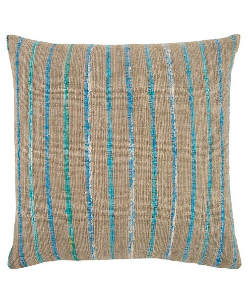 """Rizzy Home 22"""" x 22"""" Textured Stripe Down Filled Pillow"""