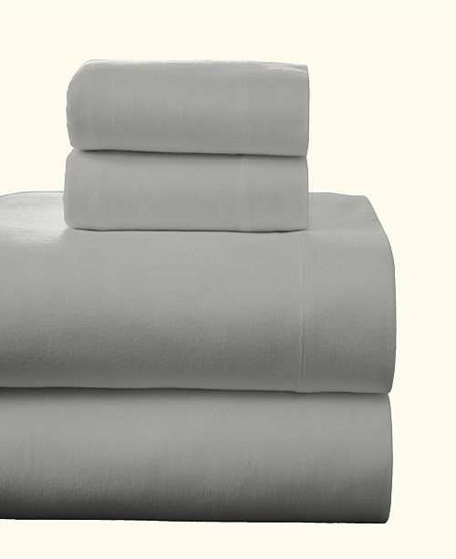 Pointehaven Superior Weight Cotton Flannel Sheet Set - California King