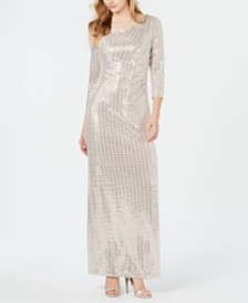 Jessica Howard Metallic Embellished Gown