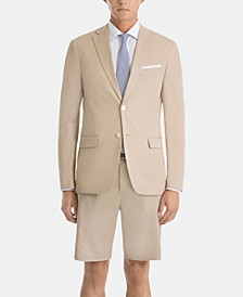 Tan Cotton UltraFlex Shorts Classic-Fit Suit Separates