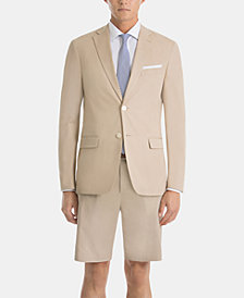 Lauren Ralph Lauren Tan Cotton UltraFlex Shorts Classic-Fit Suit Separates