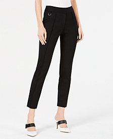 Alfani Pintuck Comfort-Waist Skinny Pants, Created for Macy's
