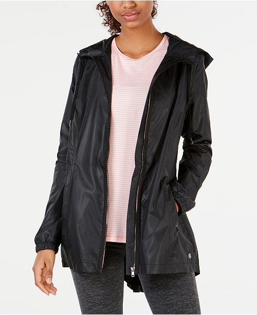 Ideology Hooded Rain Jacket, Created for Macy's
