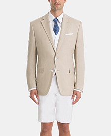 White/Tan Linen UltraFlex Classic-Fit Short Suit Separates