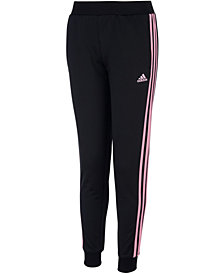 adidas Big Girls Three-Stripe Jogger Pants