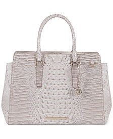 Brahmin Finley Melbourne Embossed Leather Tote