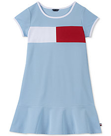 Tommy Hilfiger Big Girls Logo Flag Dress