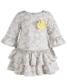 First Impressions Baby Girls Printed Ruffle Dress, Created for Macy's