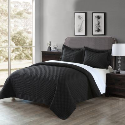 Lotus Home Diamond Stitch Quilted Sham with Stain Resistant Microfiber