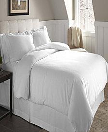 Pointehaven Superior Weight Cotton Flannel Duvet Set Full Queen