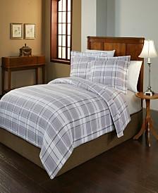 Pointehaven Jensen Print Luxury Size Cotton Flannel Duvet Set Full Queen