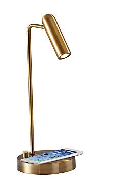 Adesso Kaye Wireless Charging LED Desk Lamp