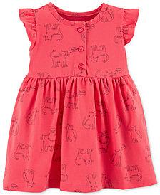 Carter's Baby Girls Cat-Print Cotton Dress