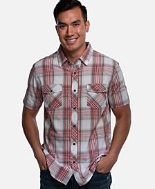 Men's Standard Fit Short-Sleeve Button Down Shirt