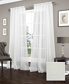 Carrington Sheer Window Curtain Panel Collection