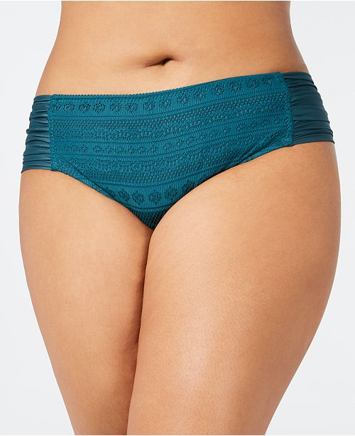Becca ETC Plus Size Crochet Side-Tab Bikini Bottoms
