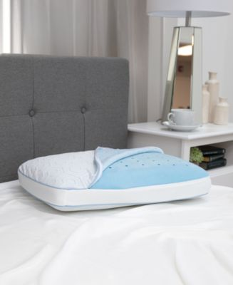 SensorGel Arctic Gusset Gel-Infused Memory Foam Pillow with Cool Coat Technology - Oversized