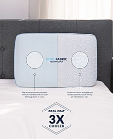 Arctic Gusset Gel-Infused Memory Foam Pillow with Cool Coat Technology - Oversized