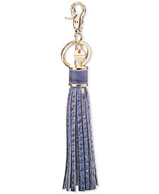 Brahmin Large Tassel Melbourne Embossed Leather Key Chain