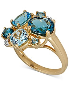 Multi-Topaz Ring (5-1/4 ct. t.w.) in 14k Gold-Plated Sterling Silver