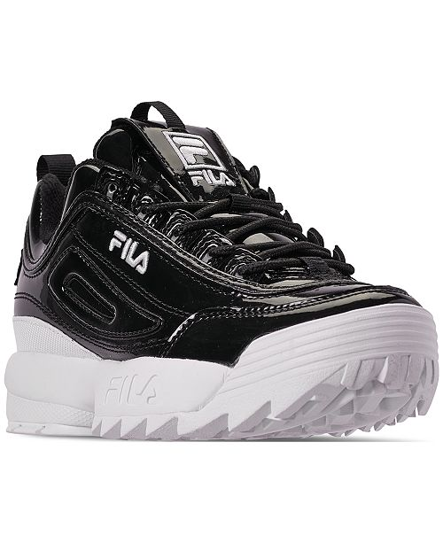 6bc313a7c278 ... Fila Women s Disruptor II Premium Patent Casual Athletic Sneakers from  Finish ...