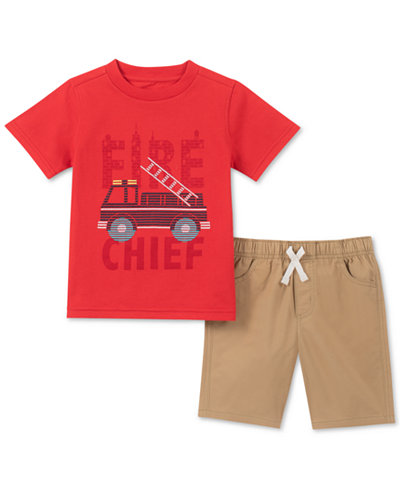 Kids Headquarters Toddler Boys 2-Pc. Fire Chief Graphic T-Shirt & Shorts Set
