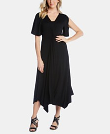Karen Kane Asymmetrical Twist-Front Dress