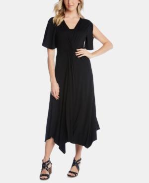 Karen Kane Dresses ASYMMETRICAL TWIST-FRONT DRESS