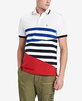 f5e81e05b9379f Tommy Hilfiger Men s Custom Fit Colorblocked Stripe Polo