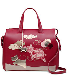Radley London If Pigs Could Fly Leather Satchel