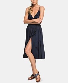 Roxy Juniors' Rooftop Sunrise Strappy Wrap Dress