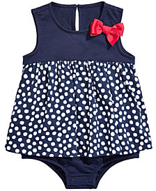 First Impressions Baby Girls Cotton Dot-Print Sunsuit, Created for Macy's