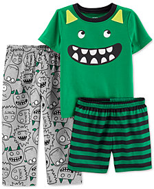 Carter's Toddler Boys 3-Pc. Monster Pajamas