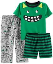 3151b4d4eb Carter s Toddler Boys 3-Pc. Monster Pajamas