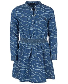 GUESS Big Girls Printed Cotton Denim Dress