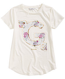 GUESS Big Girls Floral Reversible Sequin T-Shirt
