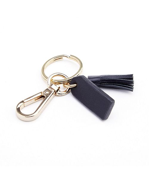 EMPORIUM LEATHER CO/ROYCE LEATHER Royce New York Leather Mini Tassel Key Fob with Gold Hardware