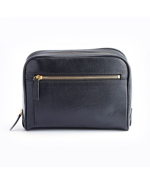 3c490b613b3 EMPORIUM LEATHER CO ROYCE LEATHER. Royce New York Pebbled Toiletry Bag with Front  Zipper Compartment. Be the first to Write a Review.  311.00
