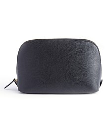 Royce New York Pebbled Leather Large Cosmetic Bag