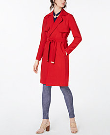 MICHAEL Michael Kors Belted Trench Coat