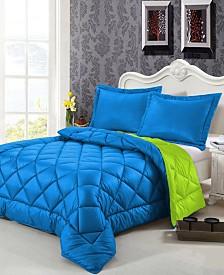 Swiss Comforts Down Alternative Reversible Queen Comforter Set