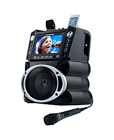 """Karaoke USA- DVD/CDG/MP3G Karaoke System with 7"""" TFT Color Screen, Record and Bluetooth"""