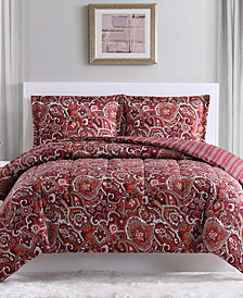 Pem Hudson Paisley 3-Pc. Comforter Set, Created for Macy's