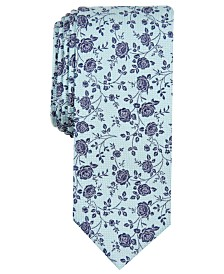 Bar III Men's Grayson Floral Skinny Tie, Created for Macy's