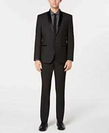 Nick Graham Men's Slim-Fit Pin-Dot Tuxedo